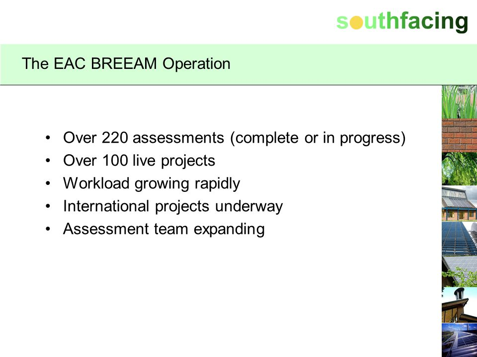 The EAC BREEAM Operation