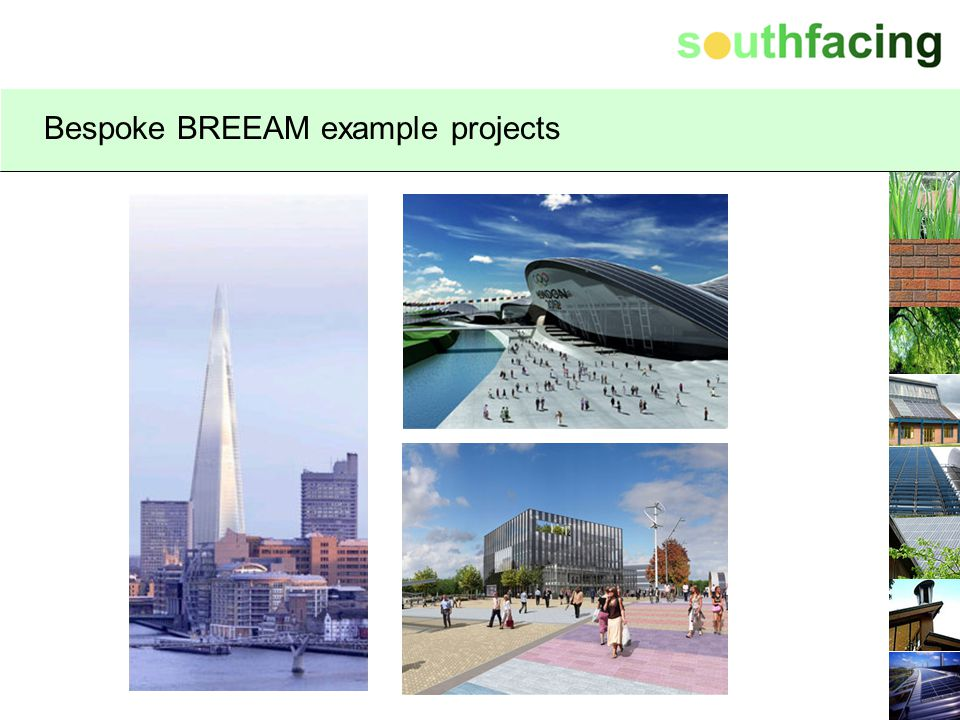 Bespoke BREEAM example projects