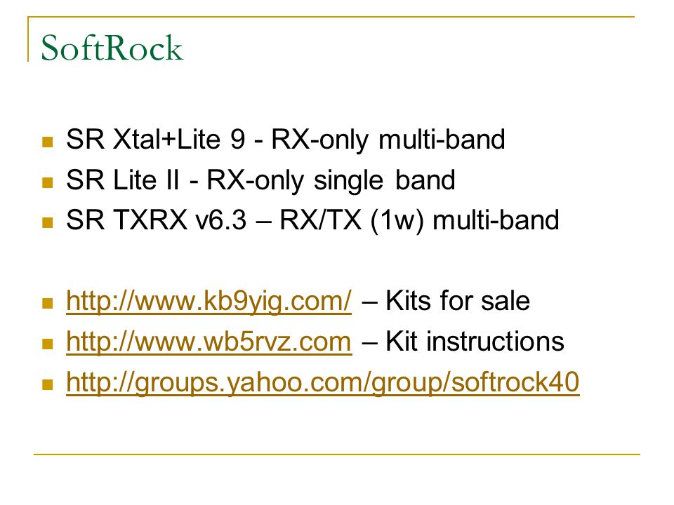 SoftRock SR Xtal+Lite 9 - RX-only multi-band