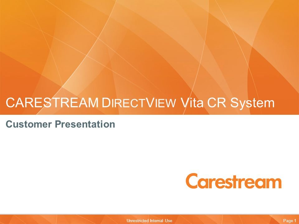 CARESTREAM DIRECTVIEW Vita CR System