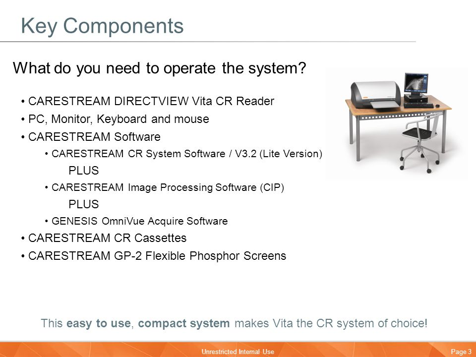 Key Components What do you need to operate the system