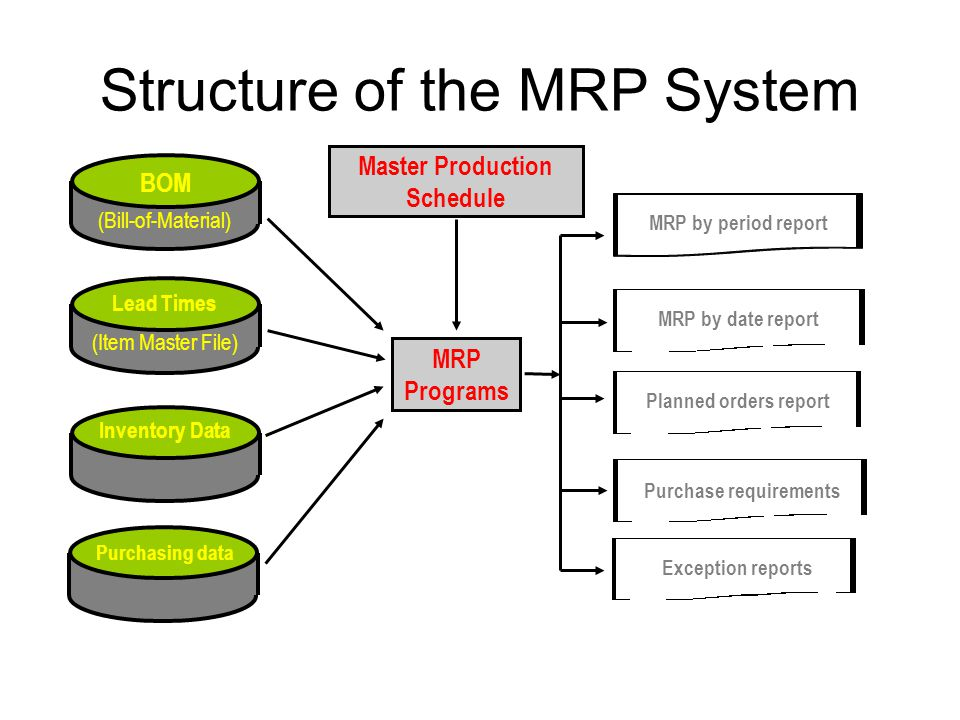 Structure of the MRP System