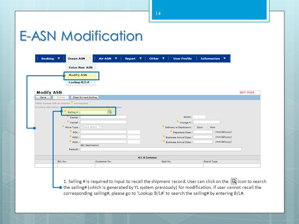 E-ASN Modification