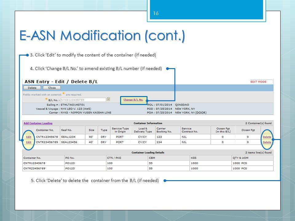 E-ASN Modification (cont.)