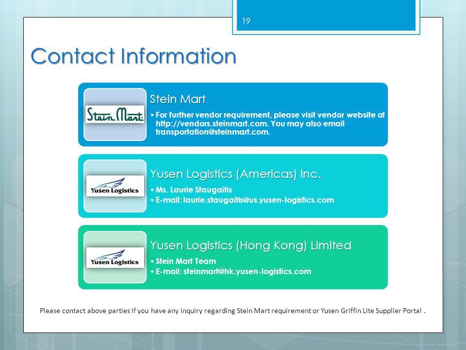 Contact Information Stein Mart.