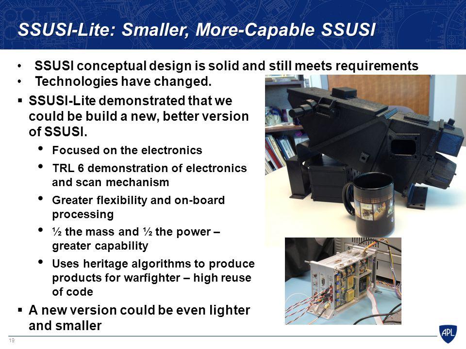 SSUSI-Lite: Smaller, More-Capable SSUSI