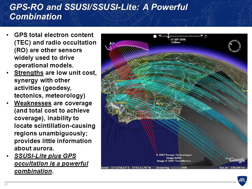 GPS-RO and SSUSI/SSUSI-Lite: A Powerful Combination