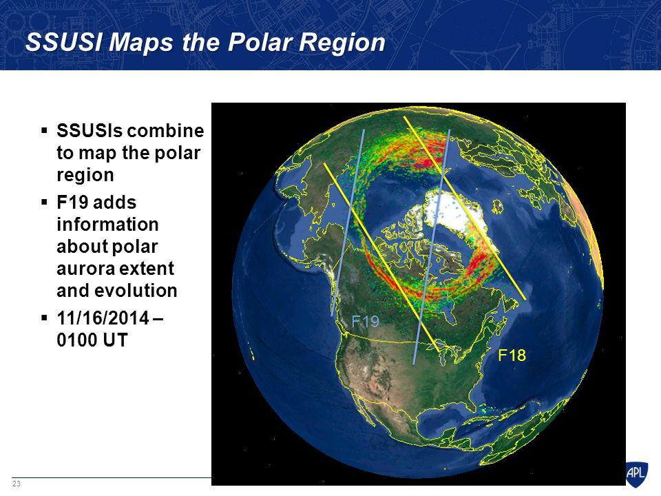 SSUSI Maps the Polar Region