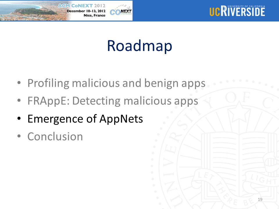 Roadmap Profiling malicious and benign apps