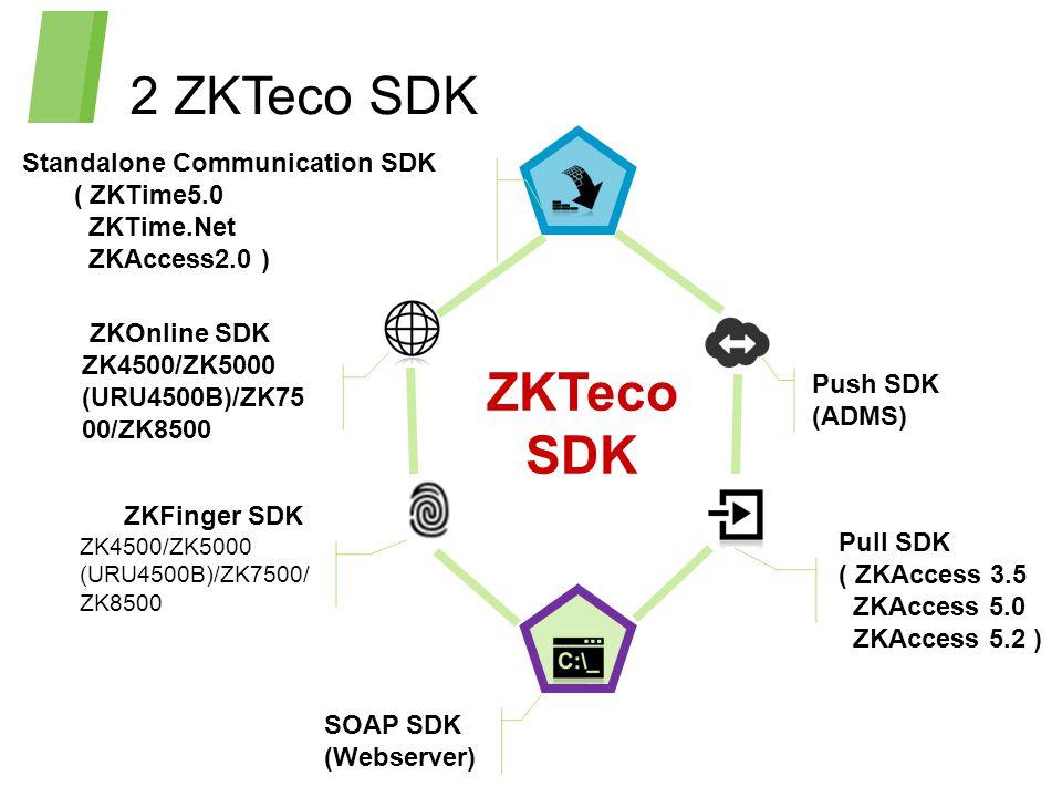 2 ZKTeco SDK ZKTeco SDK Standalone Communication SDK ( ZKTime5.0