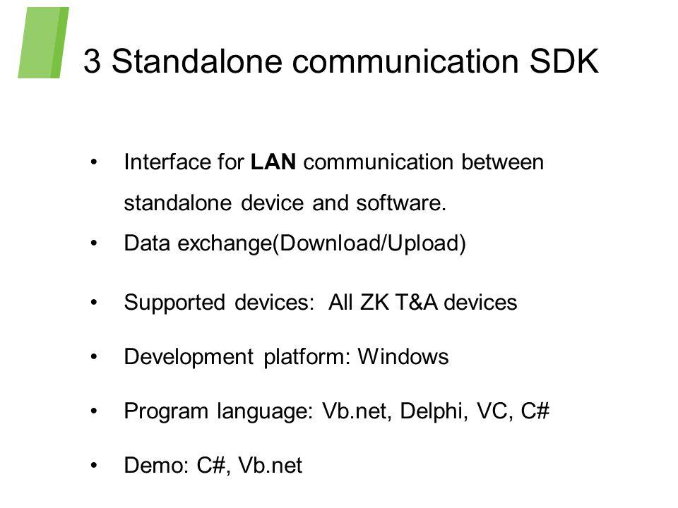 3 Standalone communication SDK
