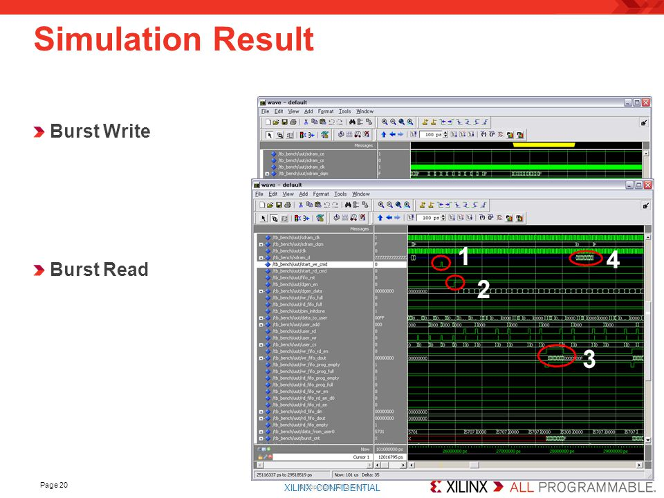 Simulation Result Burst Write Burst Read © Copyright 2012 Xilinx