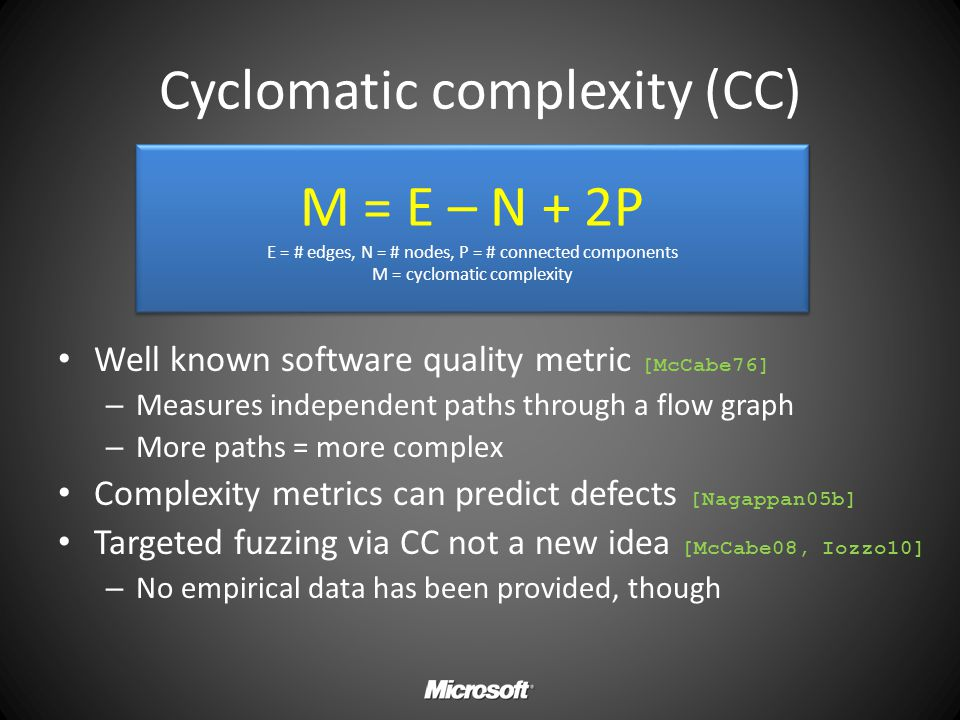 Cyclomatic complexity (CC)