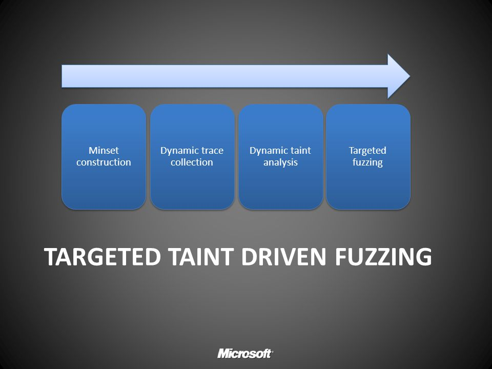 Targeted Taint driven fuzzing