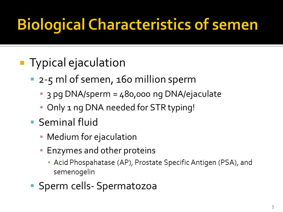 Biological Characteristics of semen