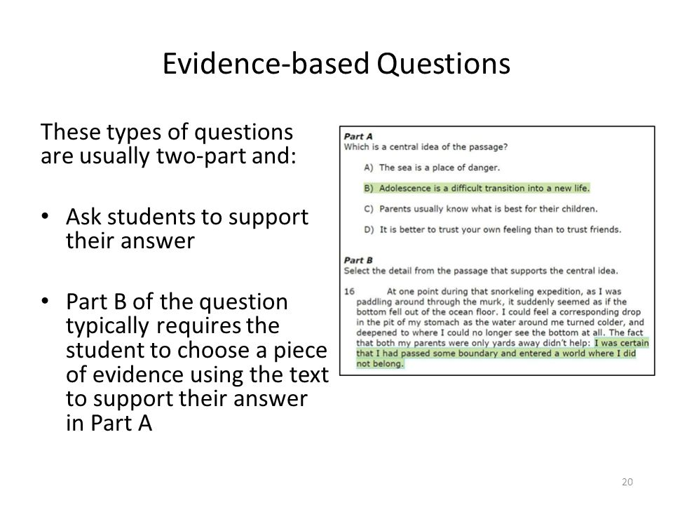 Evidence-based Questions