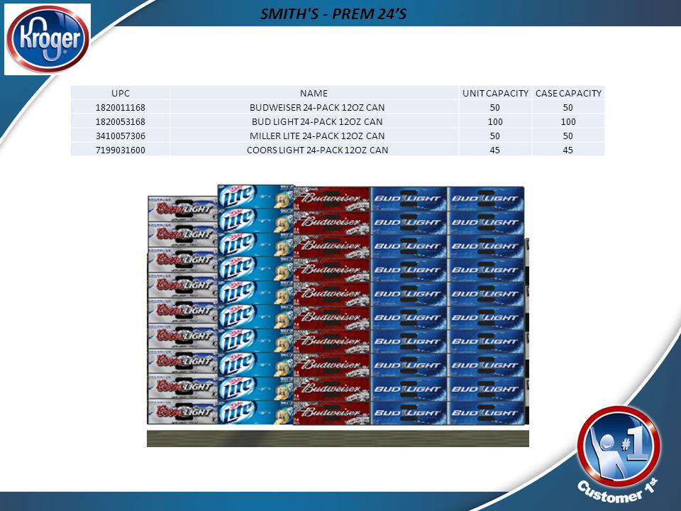 SMITH S - PREM 24'S UPC NAME UNIT CAPACITY CASE CAPACITY 1820011168
