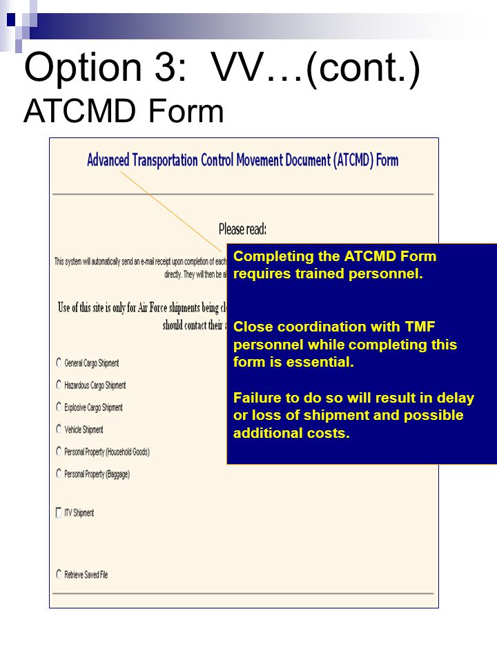 Option 3: VV…(cont.) ATCMD Form