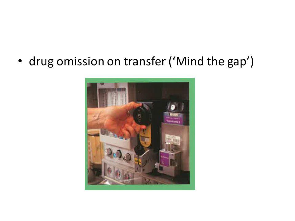 drug omission on transfer ('Mind the gap')