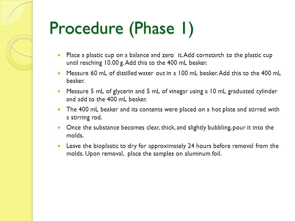 Procedure (Phase 1)