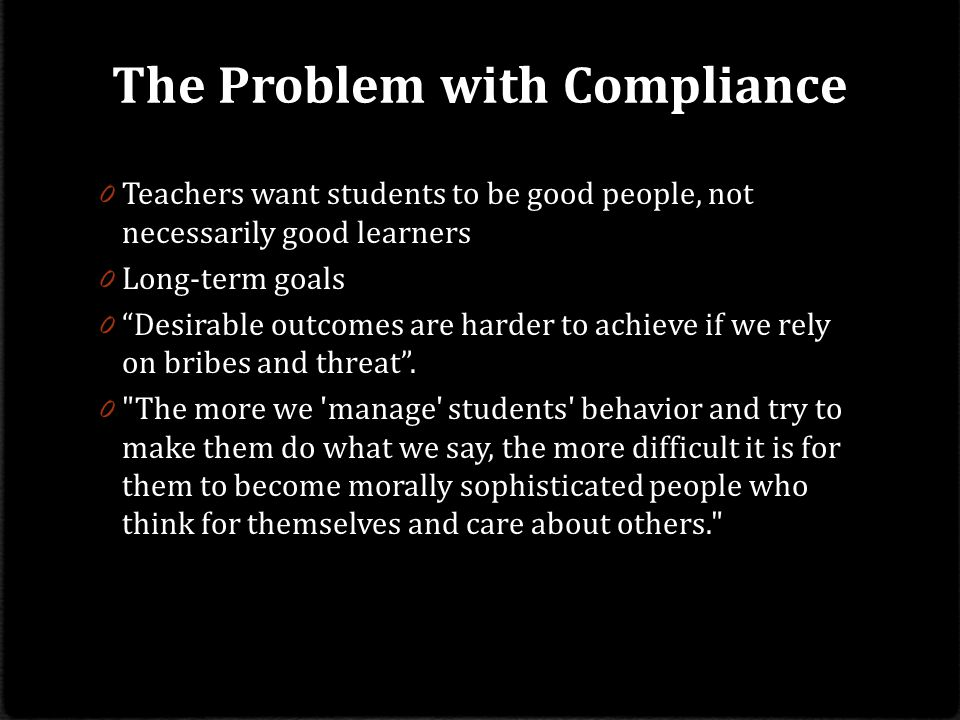 The Problem with Compliance