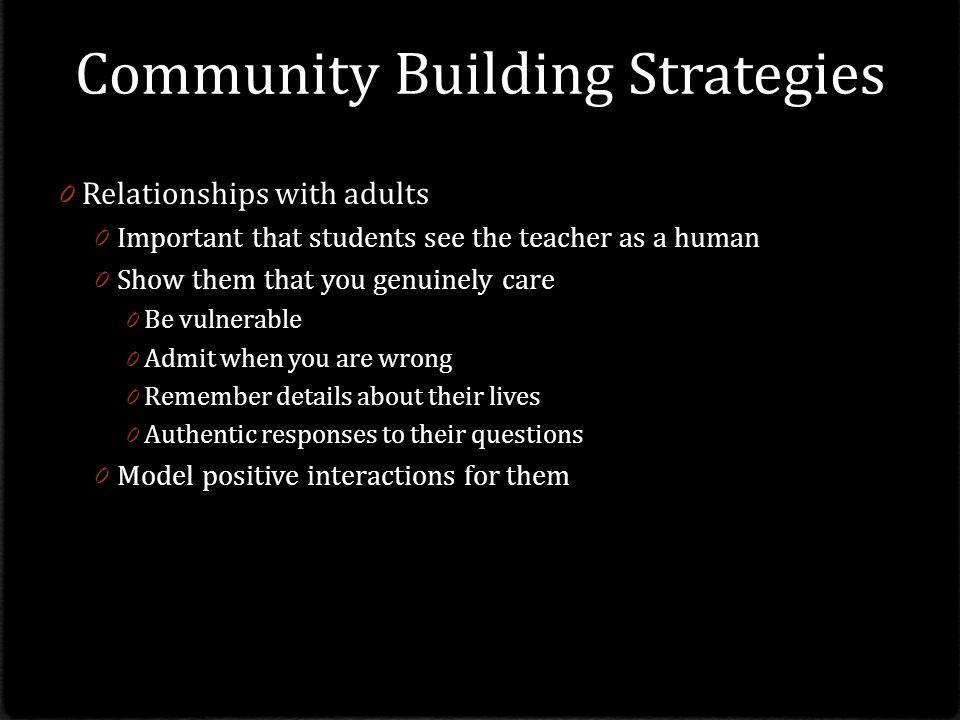 Community Building Strategies
