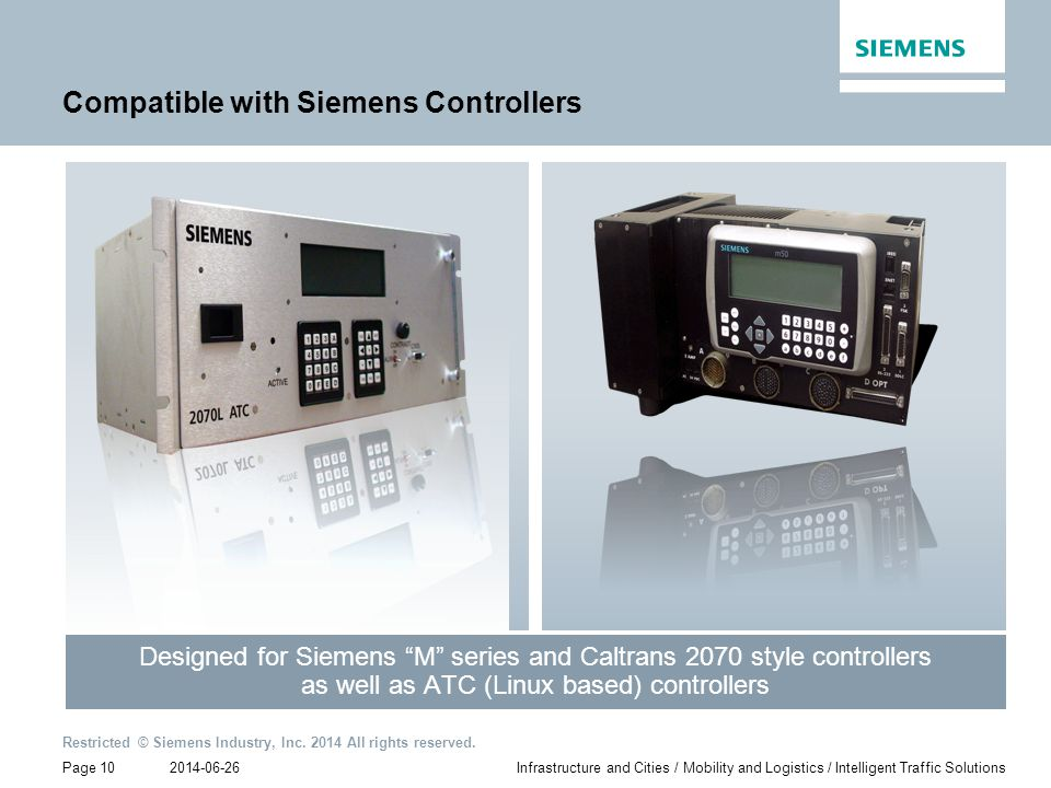 Compatible with Siemens Controllers
