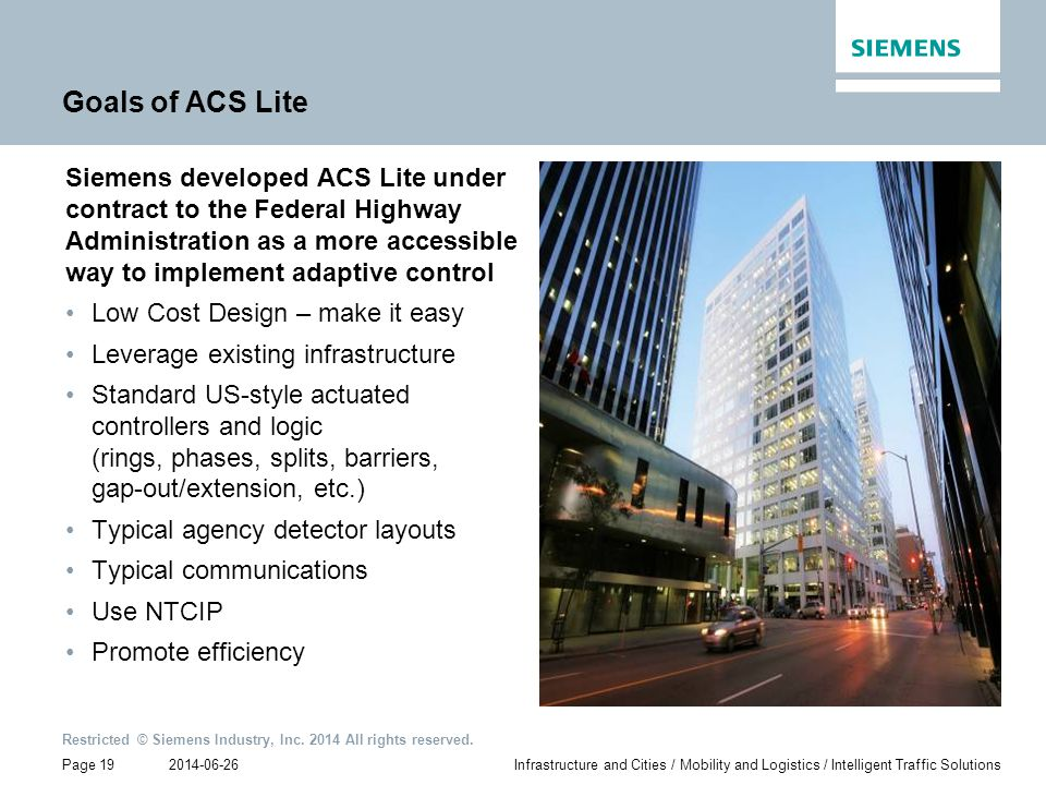 Goals of ACS Lite