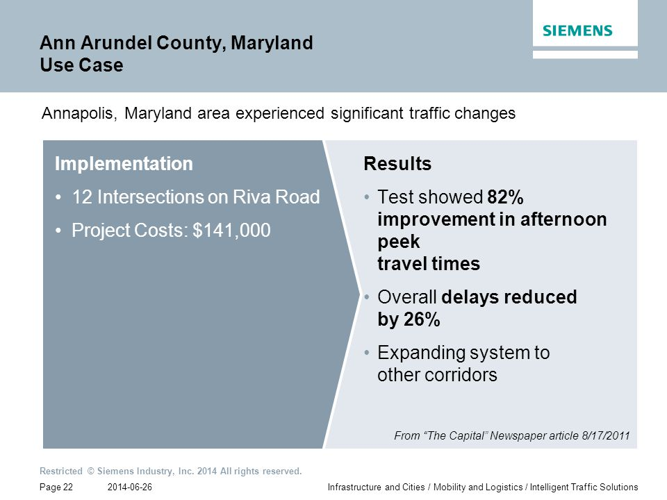 Ann Arundel County, Maryland Use Case