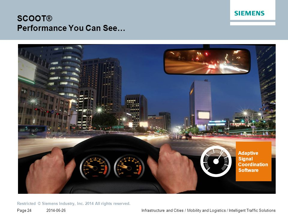 SCOOT® Performance You Can See…