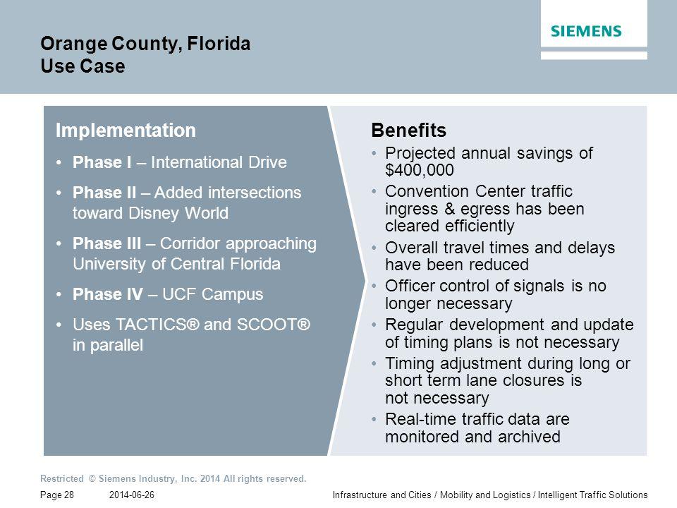 Orange County, Florida Use Case