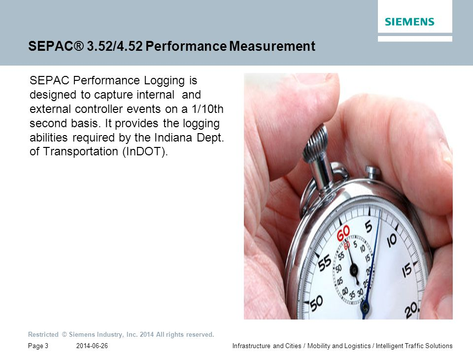 SEPAC® 3.52/4.52 Performance Measurement