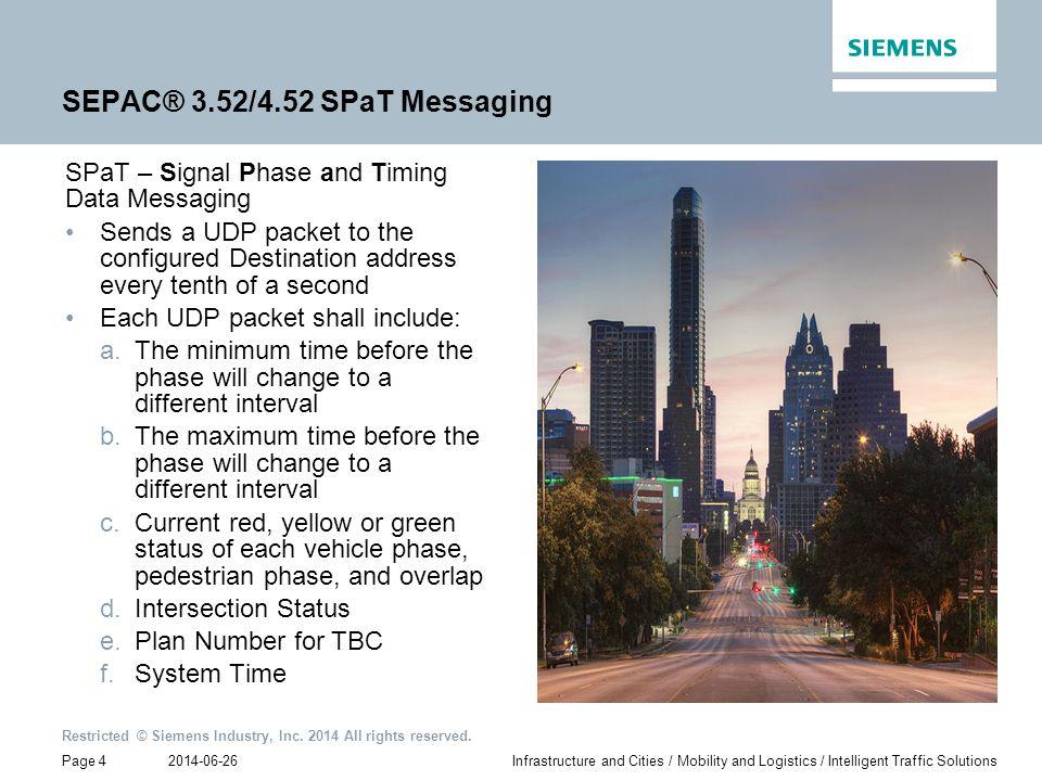 SEPAC® 3.52/4.52 SPaT Messaging