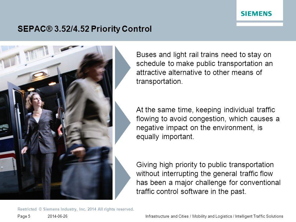SEPAC® 3.52/4.52 Priority Control