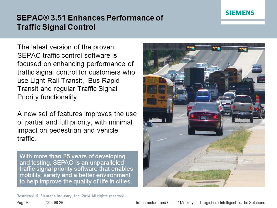 SEPAC® 3.51 Enhances Performance of Traffic Signal Control