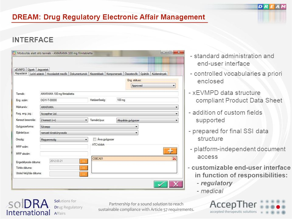 DREAM: Drug Regulatory Electronic Affair Management