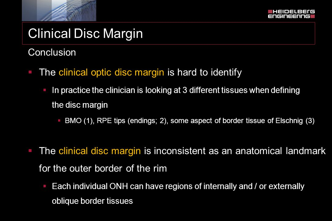 Clinical Disc Margin Conclusion