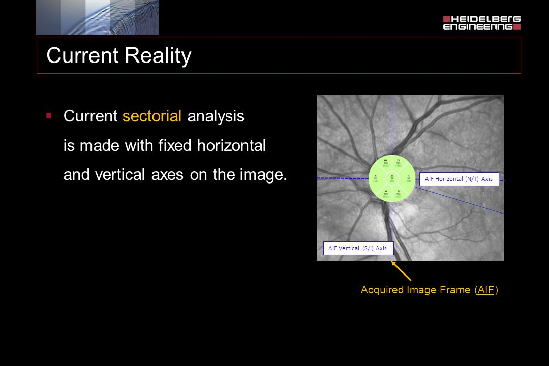 Current Reality Current sectorial analysis is made with fixed horizontal and vertical axes on the image.