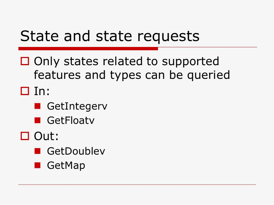 State and state requests