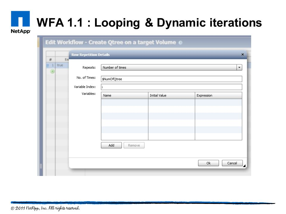 WFA 1.1 : Looping & Dynamic iterations