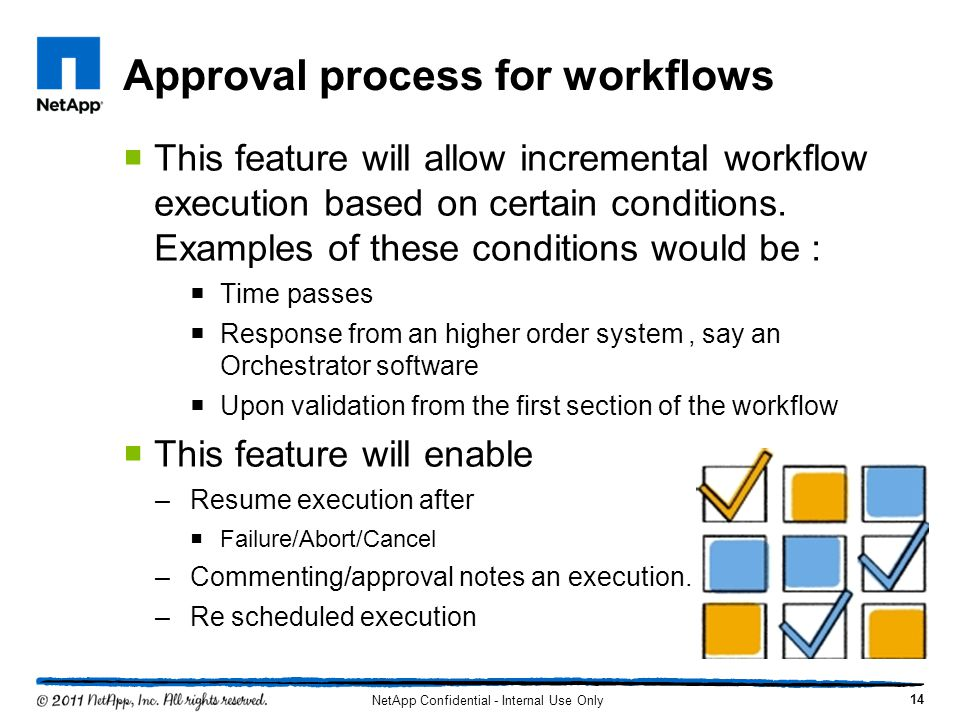 Approval process for workflows