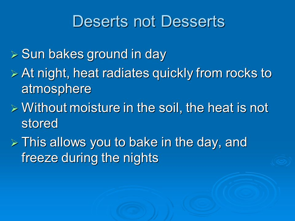 Deserts not Desserts Sun bakes ground in day