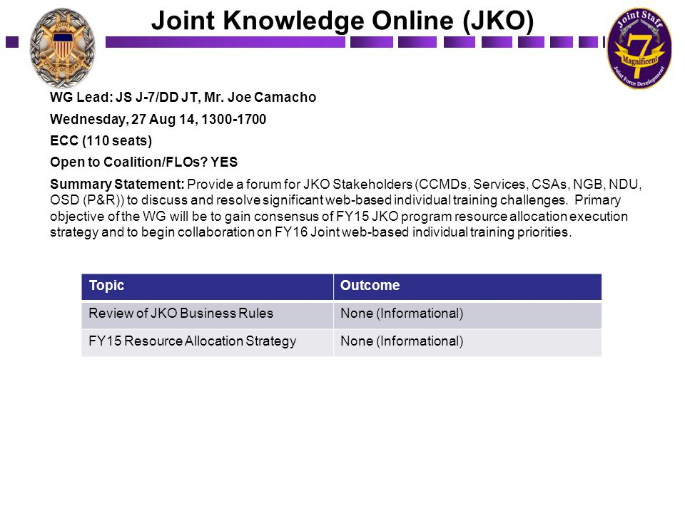 Joint Knowledge Online (JKO)