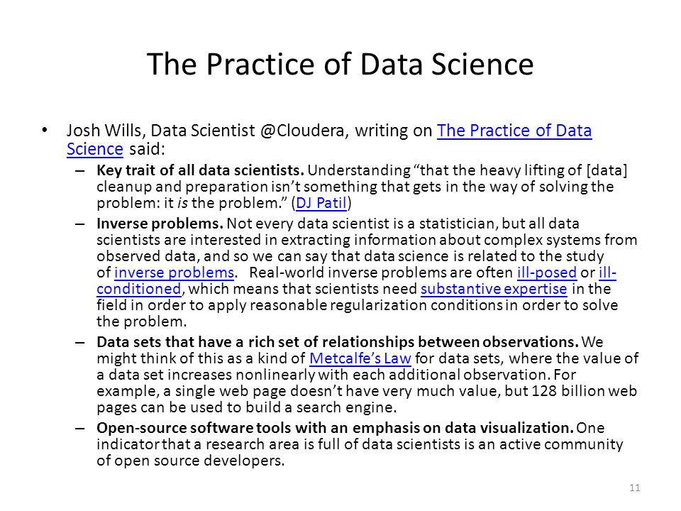 The Practice of Data Science