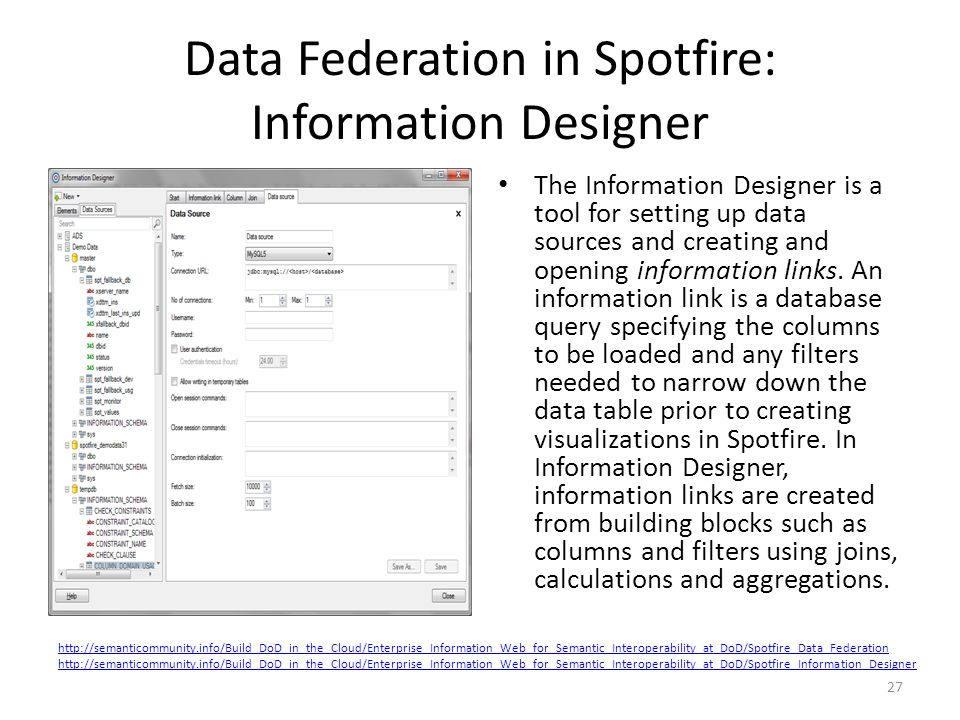 Data Federation in Spotfire: Information Designer