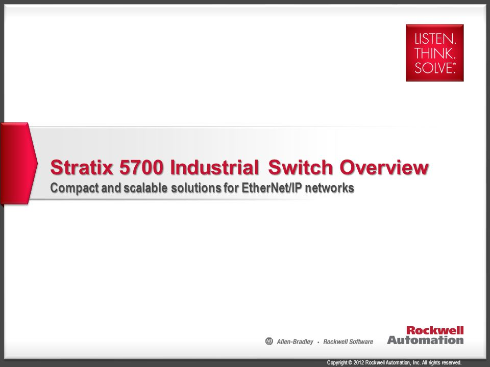 Stratix 5700 Industrial Switch Overview