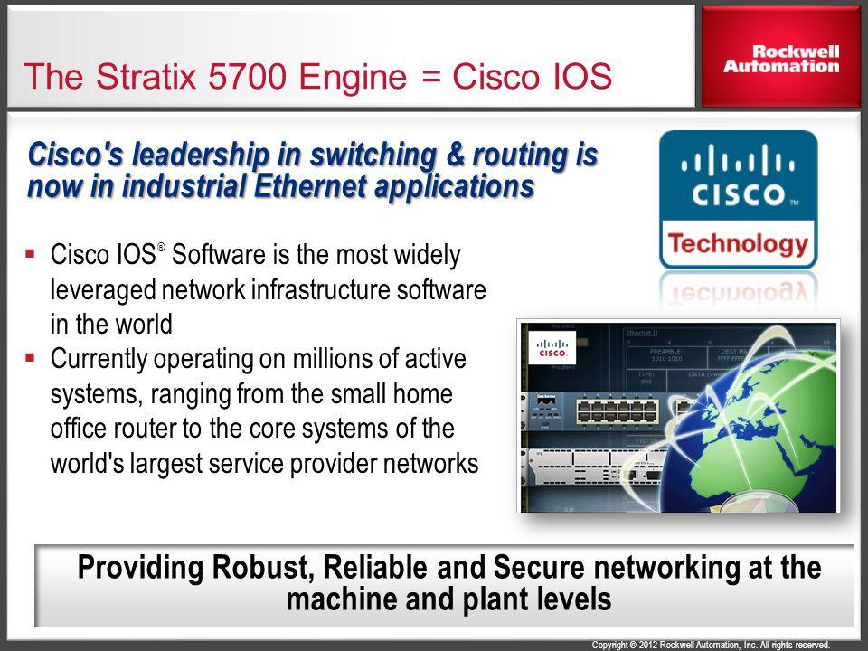 The Stratix 5700 Engine = Cisco IOS