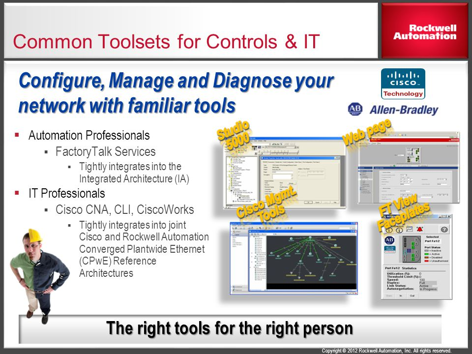 Common Toolsets for Controls & IT