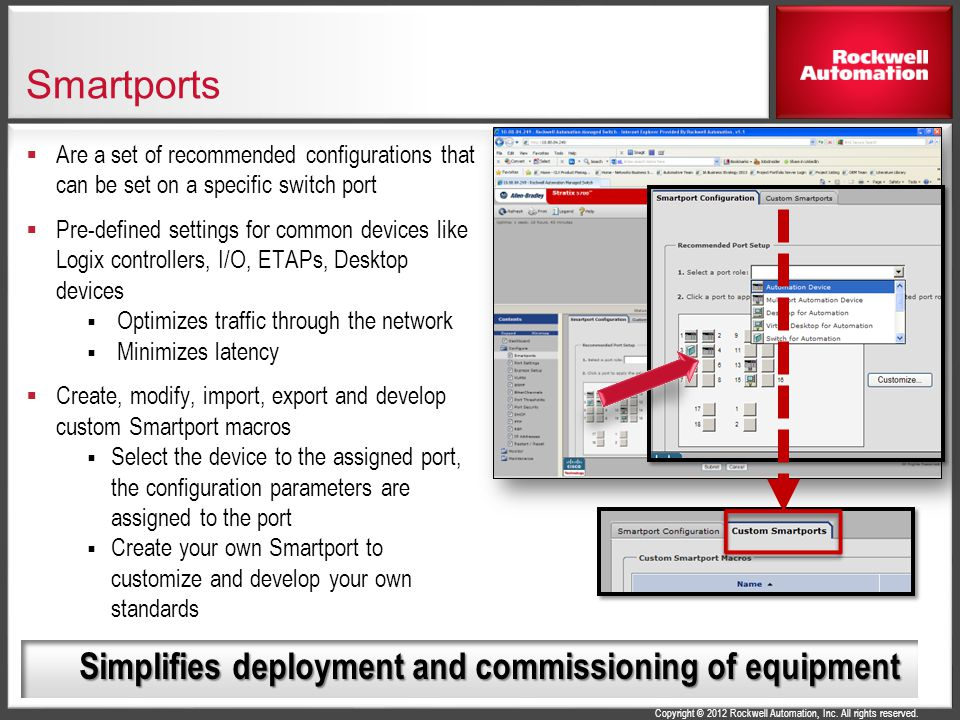 Smartports Simplifies deployment and commissioning of equipment
