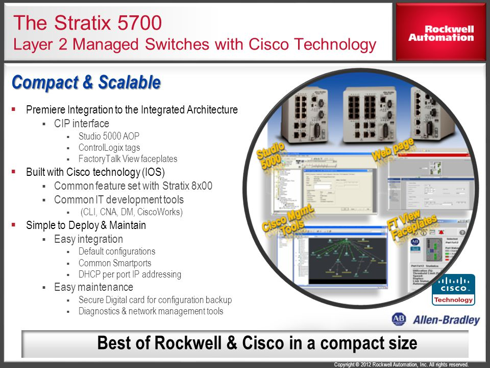 The Stratix 5700 Layer 2 Managed Switches with Cisco Technology